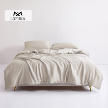 Lofuka Women 100% Silk Bedding Set 25 Momme Silk Duvet Cover Queen King Bed Sheet Fitted Sheet Set Pillowcase For Deep Sleep lofuka women light purple 100% silk flat sheet nature silk beauty queen king bed sheet fitted sheet pillowcase for deep sleep
