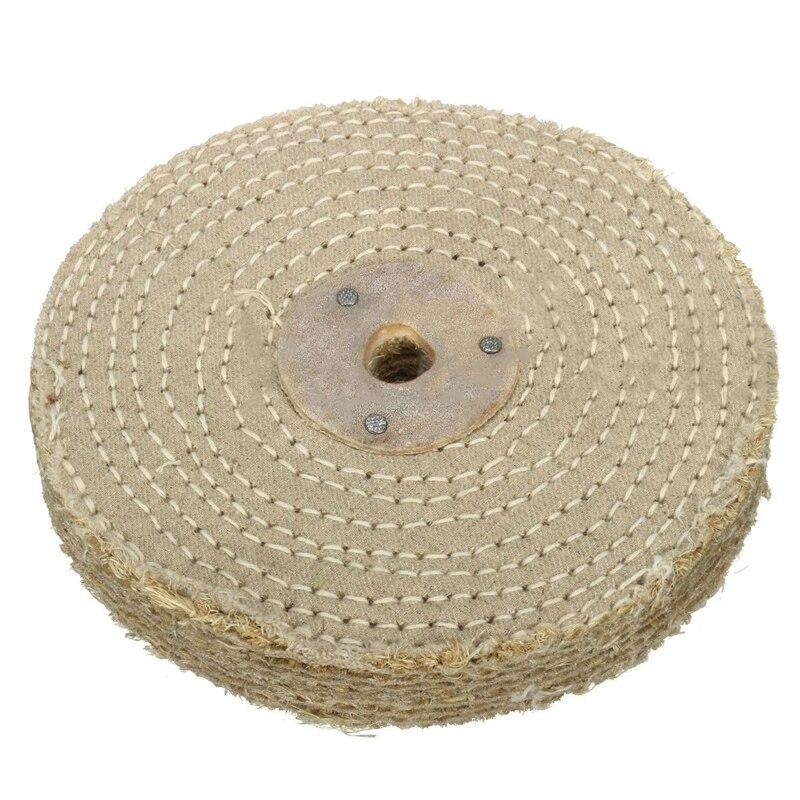 1x150*20mm 6 cloth siroda de polimento de pano sisal para acessórios de ferramenta de polimento de metal de aço inoxidável