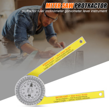 Hot Miter Saw Protractor Engraved Dial Scale Angle Strong Portable Tool for Outdoor XJS789