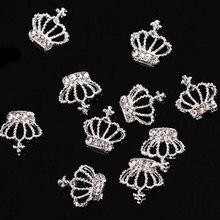 3D дизайн ногтей Корона изогнутый сплав металлические украшения ювелирные изделия подарок