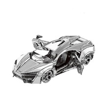 Model 3D Puzzle Metal Model Kit Hypersport Racing Car Assembly Model DIY 3D Cut Model Puzzle Toys for Adult(China)