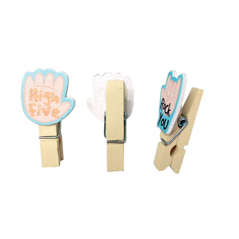 10pcs/lot New Creative Gesture English Clip Set Mini Wooden Clips For Photo Clips Clothespin Craft Decoration Clips Pegs