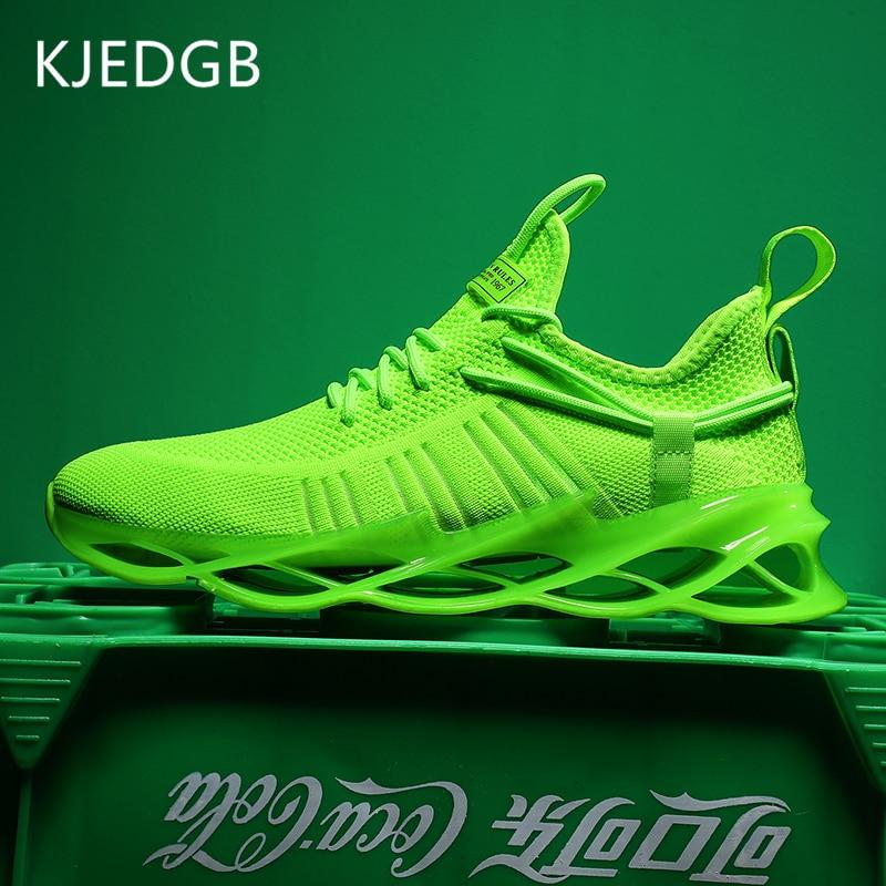 KJEDGB Brand New Men Sneakers 2020 Summer Blade Jogging Men's Shoes Tenis Masculino Adulto Fashion Casual Shoes Male Trainers 1