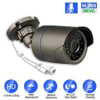 Cámara IP impermeable para seguridad de Visión Nocturna exterior, red CCTV Onvif H.265/H.264, color blanco y cámara negra, IOS/android, 2MP/3,0mp