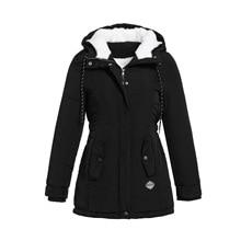 RICORIT, женские парки, зимняя куртка с капюшоном, толстый хлопок размера плюс, теплое Женское пальто, модное, средней длины, ватное пальто, куртка, верхняя одежда