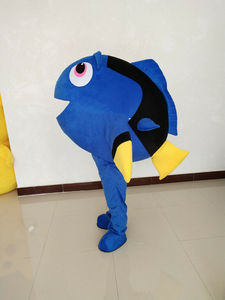 Blue Fish Mascot Costume Suits Cosplay Party Game Dress Outfits Easter Adults Fursuit Event Cartoon Apparel Cosplay Halloween