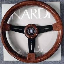 Universal 14 polegadas nd volante de corrida automóvel de madeira + nd shift knob profundo milho deriva esporte volante com logotipo