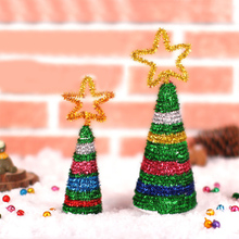 Homemade DIY Christmas Tree Detachable Mini Christmas Tree Paper Ornaments Kids Decorate Gifts Creative DIY Paper Craft Toys New diy felt christmas tree new year gifts kids toys artificial tree wall hanging ornaments christmas decoration for home