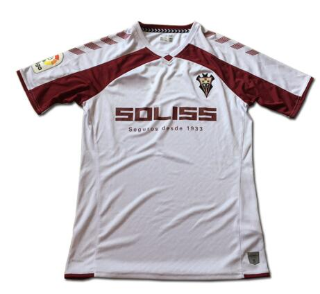 Albacete 2019 2020 Home High Quality 3A +++ Men's T-Shirt Mechanical Shirt Albacete Club FC Spain