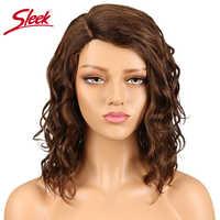 Elegancki indyjski kręcone ludzkie włosy peruki L część koronkowe peruki Ombre kolor 27 # czerwony i Pian kolor P4/30 # f2/33 # 100% perruque cheveux człowieka