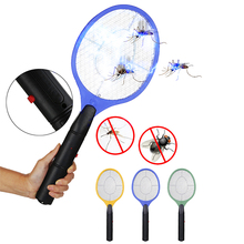 Portable Insect Fly Swatter LED Light Battery Powered  Outdoor Mosquito Racket Electric Handhold Tennis Bat