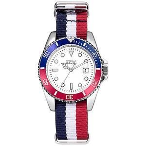 Image 4 - Homme analogique montre à Quartz Canlander hommes montre bracelet en Nylon luxe décontracté affaires horloge vert