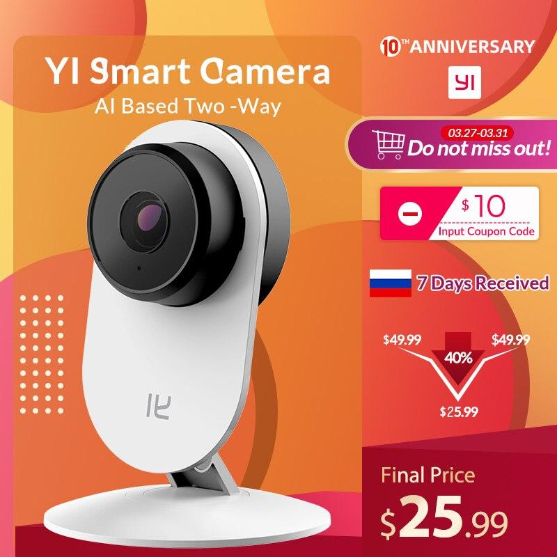 Yi casa inteligente câmera 3 ai-powered ip sistema de vigilância de segurança interior cam com detecção humana two-way monitor de áudio