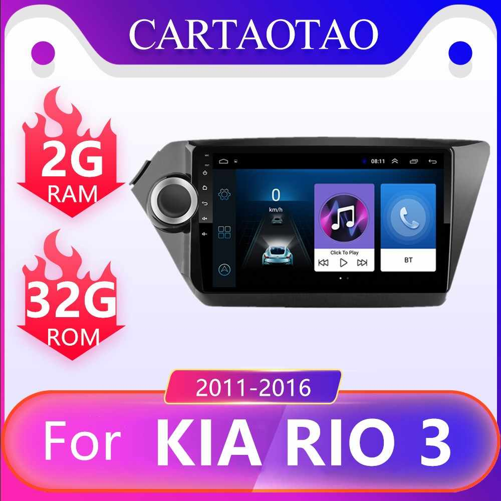 "2 din Android 8.1 KIA RIO 3 & 4 차량용 멀티미디어 비디오 플레이어 9 ""터치 스크린 GPS 스테레오 네비게이션 WiFi 플레이어 RAM 2G + ROM 32G"
