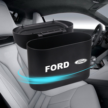 Car Trash Can Interior Organizer Storage Box Car Garbage Bag Press Holder For Ford Fiesta EcoSport MK2 MK3 MK1 MustangFOCUS 2 3