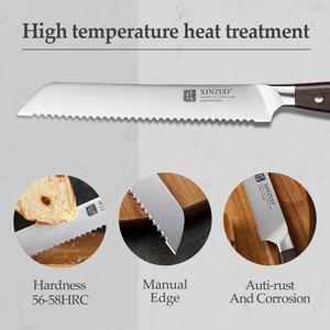 Image 4 - XINZUO 8 дюймов нож для хлеба немецкий 1,4116 нож для торта из нержавеющей стали кухонные ножи Высокое качество инструменты для приготовления красного сандалового дерева ручка