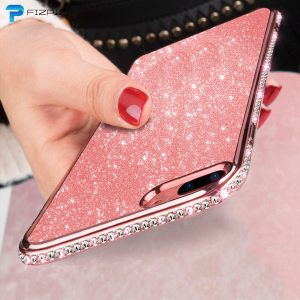 Rhinestone Cases For XiaoMi Mi 8 9 SE A3 A2 lite 9T Pro RedMi Note 7 Pro 6A 5 Plus K20 5 Global Version RedMi 7A Glitter Covers(China)