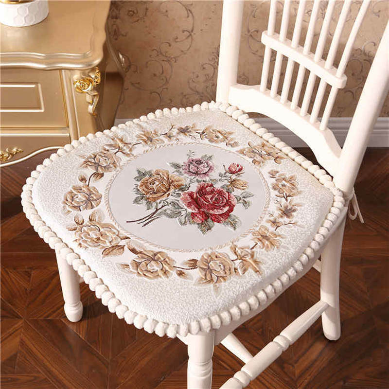 Nordic Dining Chair Pad 4 Seasons Office Chair Seat Pillow Non Shift Coussin For Home Decor Car Seat Cushion Flower Pattern Mat image