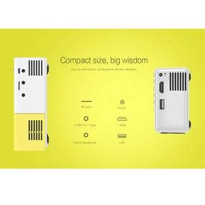 Image 5 - AAO YG300 Mini projecteur Audio YG 300 HDMI USB Mini projecteur Support 1080P lecteur multimédia maison enfant jouer YG310 cadeau Proyector