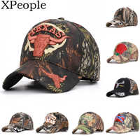 XPeople Army Military Camo Cap Baseball Casquette Camouflage Hats for Hunting Fishing Outdoor Activities