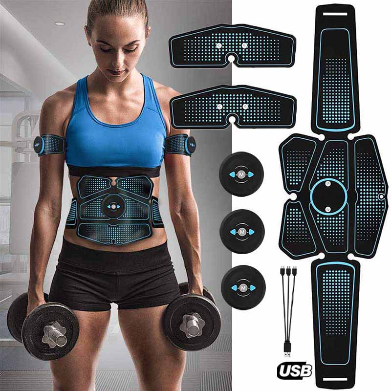Electric Muscle Stimulator Electrostimulator Fitness Body Slimming Fat Burning Machine Abdominal Ems Trainer Exerciser Massage