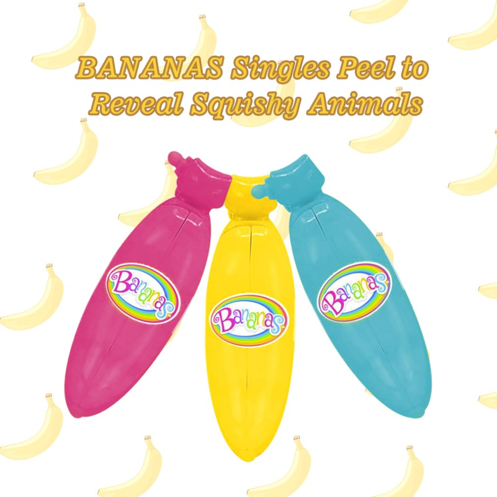 1PC Peel Off Bananas Dolls Creative Bananas Collectible Toy Random Bunch Surprise Banana Plastic Funny Gifts Toy for Kids Girls in Gags Practical Jokes from Toys Hobbies