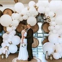 104 Uds blanco gigante globo de color macarrón guirnalda arco de boda globos de boda fondo de fiesta de cumpleaños decoración para fotografías