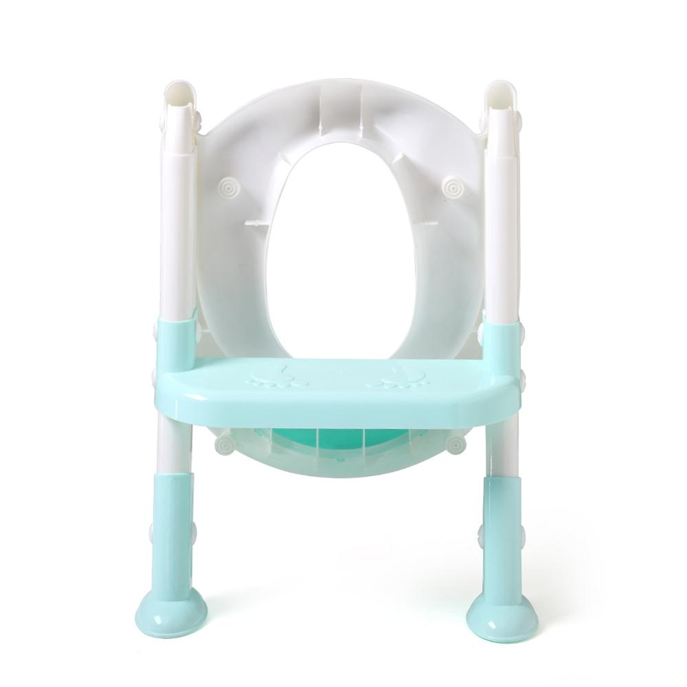 Baby Infant Potty Seat Folding Toddlers Potties Children Toilet Training Safety Toilet Seat with Adjustable Ladder | Happy Baby Mama