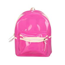 Women Glitter Jelly Backpack LED Flash Transparent Shoulder Bag Student Leisure School Plastic Waterproof