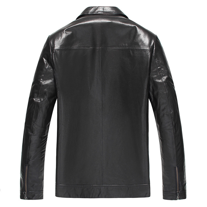 Genuine Leather Jacket Men Spring Autumn 100% Goatskin Leather Coat Men's Motorcycle Real Leather Jackets 81Y602 YY257