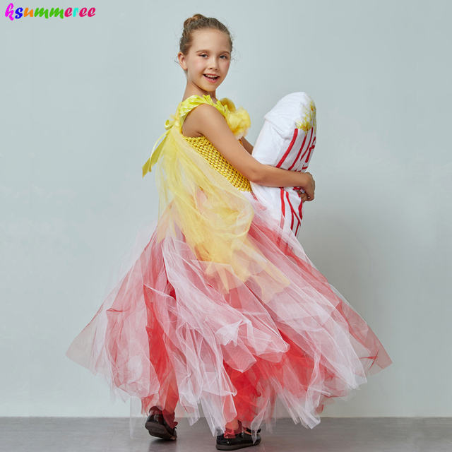 Adorable Popcorn Inspired Girls Tutu Dress Red & White Tulle Children Birthdays Halloween Dress Up Costume Kids Flower Ball Gown 4