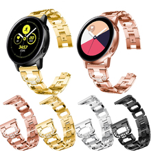 20mm Strap For Samsung Galaxy 42mm Stainless Steel women Watchband watch For Samsung Gear S2 R500 band Bracelet belt band 20mm strap for samsung galaxy watch active galaxy watch 42mm gear s2 band stainless steel replacement crystal women wristband