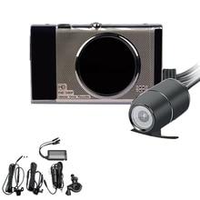 3 дюймов видеорегистраторы для мотоциклов Sprint Камера Full Hd 1080 P/720 P ЖК дисплей двойной Камера переднее и заднее зеркало заднего вида Водонепроницаемый Камера Gps G-Sens