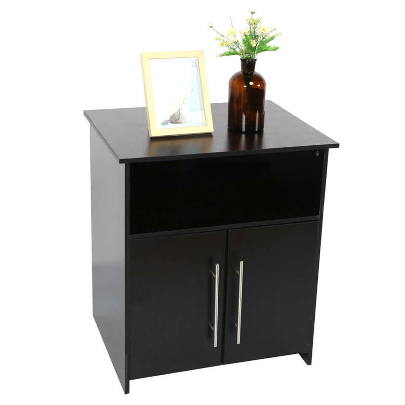 Printer Stand Cabinet Particle Board Storage Organizer Furniture for Home Office Black Office Cabinet