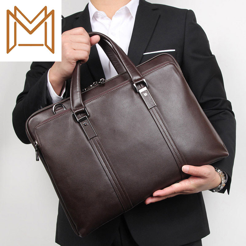 Genuine Leather Male Package Business Affairs Package Briefcase Man Handbag Atmosphere Handbag