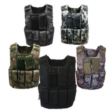 Kids Boys Tactical Vest Camouflage Bulletproof Combat Armor Tops Army Soldier Equipment Special Forces Military Uniform(China)