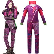 Potomkowie kostiumy dla dziewczynek kostiumy dla dzieci kostiumy dla dziewczynek kostiumy Evie potomkowie 3 Mal strój baśniowy typu Cosplay tanie tanio Kombinezony i pajacyki Film i TELEWIZJA Dziewczyny Zestawy Descendants Descendants Costume Poliester ZX-4522