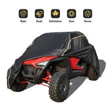 2020 KEMIMOTO UTV kapağı Polaris RZR PRO XP programı araç depolama kapakları siyah 210D Oxford su geçirmez malzeme