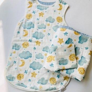 Invierno otoño muselina 8 capas bebé Dormir bolsa niños toddingbaby Saco De...