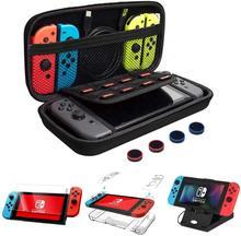Bolsa de accesorios para Nintendo Switch 8 en 1, Estuche de transporte, funda protectora, soporte de juego, Protector de pantalla 9H