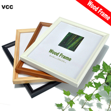 Nature Solid Wooden Picture Frame A4 30X40cm Black White Coffee Wood Wall Hanging Photo Poster Frames For Pictures