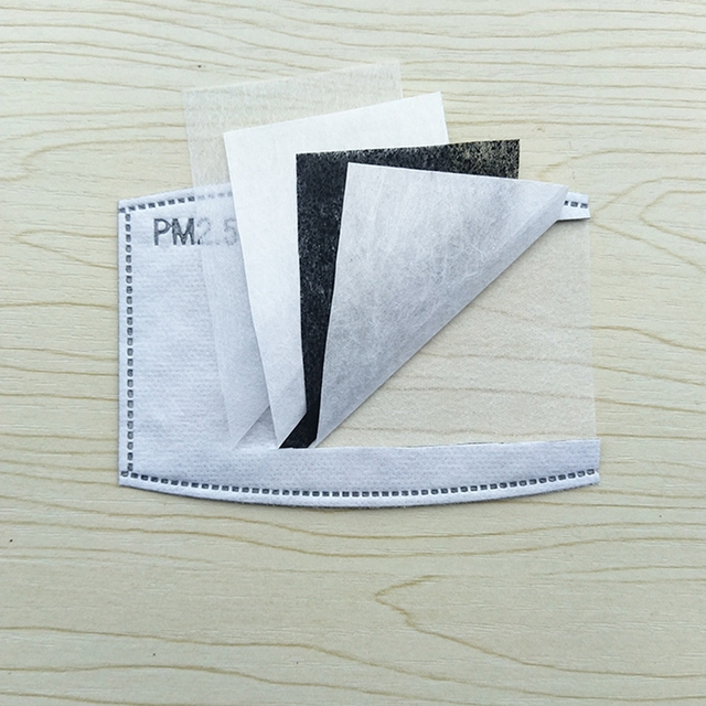 50Pcs Breathable PM 2.5 Filter Kids face mask flu Dust Air Pollution Mouth Masks Filter For Children Health Care 4