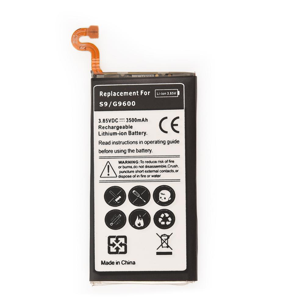 1pcs Rechargeable battery for Samsung Galaxy <font><b>S9</b></font> <font><b>G9600</b></font> SM-G960F SM-G960 G960F G960 EB-BG960ABE 3500mAh Backup Phone Battery image