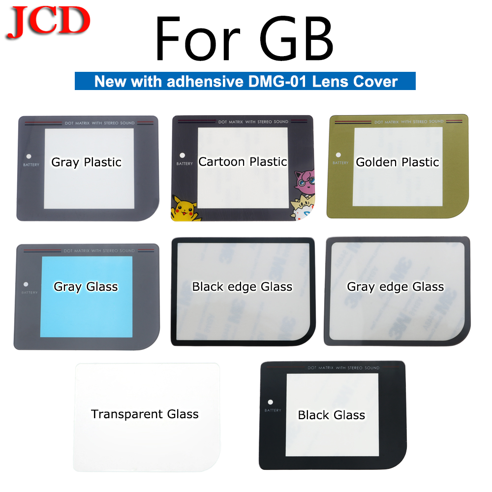 JCD New Glass Screen Lens For Zero DMG-001 For Nintendo Glass Plastic With Adhensive DMG-01 Lens Cover For GameBoy Plastic Lens