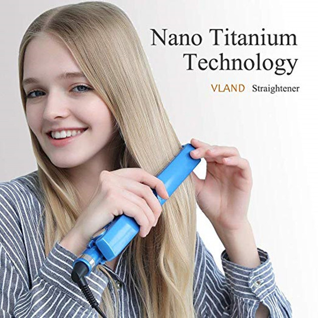 Professional Hair Straightener&Curler Irons Hair Styling Tools Nano Titanium Plates Professional Hair Straightener Curlers Set 6