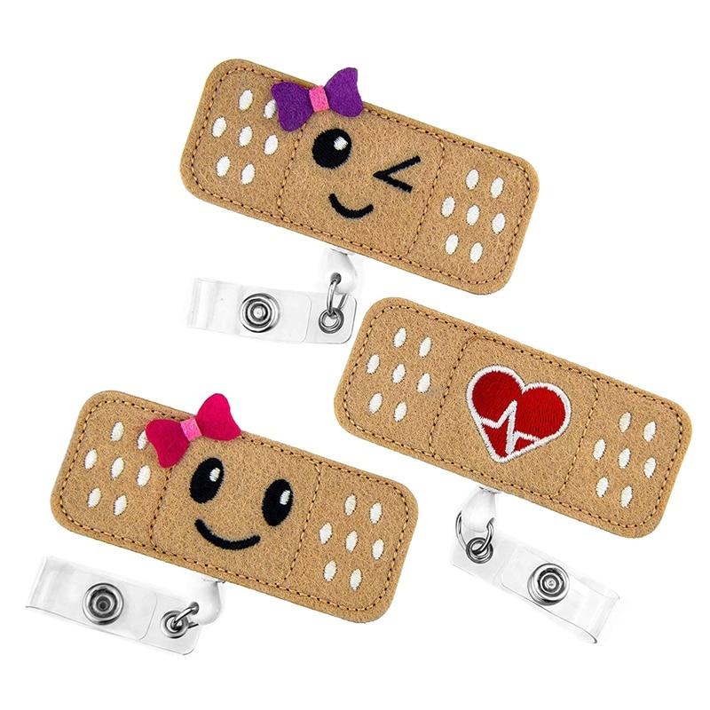 Nurse Badge Reel Holder - 3 Pack - RN Badge - Band Aid Badge Reel - Perfect Nurse Gifts For Women