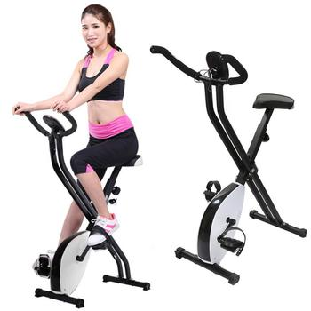 Indoor Cycling Bike X type exercise bike web brake with 8 resistance level quick easy assembly disassembly Foldable Cycling Bike tanie i dobre opinie
