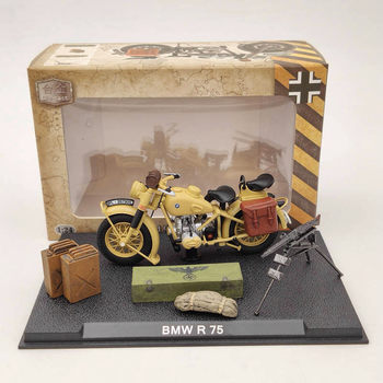 1:24 B~W R75 Motorcycle World War II 1939-1945 Diecast Model Collection Toys Gift Yellow 1 72 world war ii auto assault e 100 super heavy tank as72057 collection model holiday gift