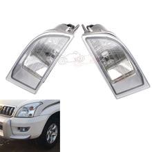 цена на 81221-60070 81221-60071 Car Front Bumper Clear LENS Fog Light Fog Lamp For Toyota PRADO J120 Series 2700 4000 LC120 2002-2009