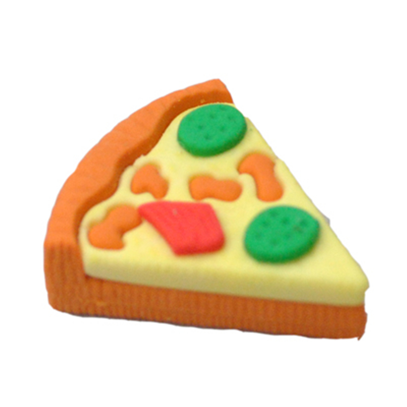 Delicious Pizza Eraser Star For Restaurant Promotion Fast Food Rubber Eraser Of School Stationery Supplies 5pcs/lot